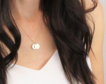 Medium Gold Initial Necklace