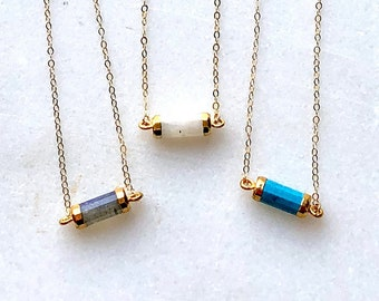 Gem Barrel Choker Necklace