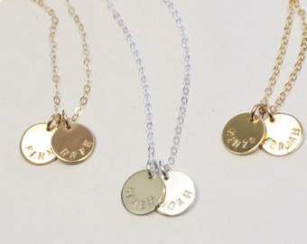 Petite Personalized Disc Necklace