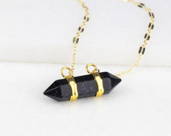 Horizontal Crystal Necklace