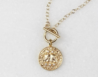 Zodiac Toggle Necklace, Choose your Chain Style