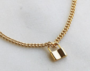 Hardware Necklace  Padlock Necklace - Aura Collection