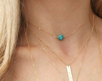 Real Turquoise Choker Necklace