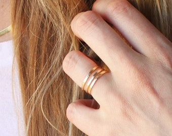 Triple Line Gold Ring