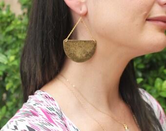 Statement Earrings, Large Gold Dangle Earrings, Boho Earrings, Gold Earrings, Dangling Earrings, Gift for Her