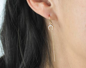 Luna - Moon Threader Earrings