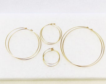 Barely There Hoop Earrings, choose your size