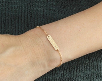 Small Name Bracelet - Choose a single bar or set of two
