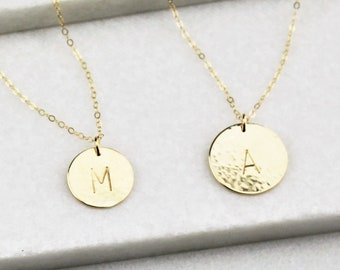 Medium & Large Disc Layered Necklace Set
