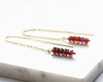 Birthstone Threader Earrings
