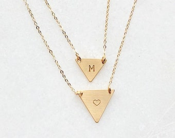 Triangle Layered Necklace Set