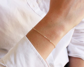 Simple Chain Bracelet - In Rose, Silver & Gold