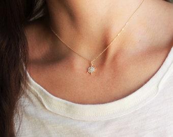 Dainty Opal Star Necklace
