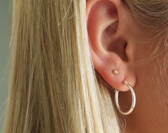 Hoop Earrings 20mm, Silver or Gold