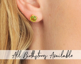 Birthstone Stud Earrings