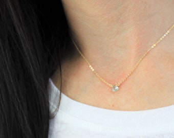 Ultra TINY Gemstone Necklace