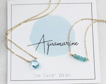 March Birthday - Aquamarine Necklace