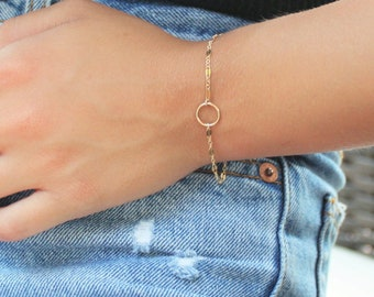 MINI Ring Bracelet in gold or silver