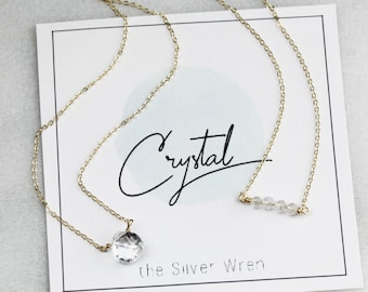 April Birthday - Crystal Necklaces for Women
