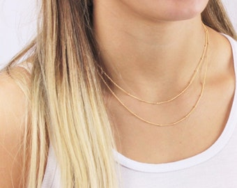 Dainty Satellite Necklace