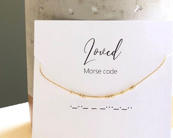 Gift Mom, Jewelry Gift, Gift for Her, Sister Gift, Gift for Sister, Best Friend Gift, Morse Code, Necklace, Dainty Jewelry, Gift for Women