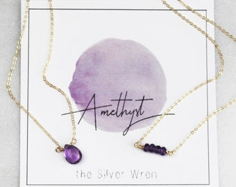 February Birthday - Amethyst Necklace
