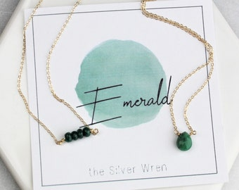 May Birthday - Emerald Necklace