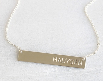 Premium Silver Bar Necklace