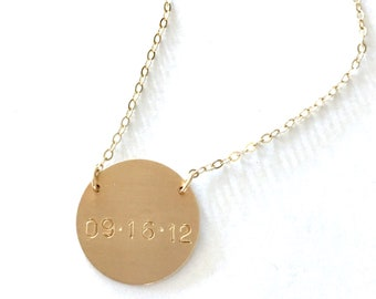XLarge Suspended Personalized Pendant Necklace
