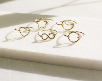 Dainty Gold Ring- Choose Your Design