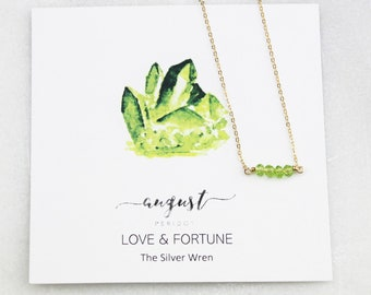 Birthday Gifts For Her, August Birthstone, Necklaces for Women, Peridot, August Birthday