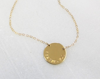 Roman Numeral Disc Necklace