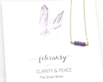 Gifts Women, February Birthday, Birthday Gifts, February Birthstone, Amethyst, The Silver Wren, Jewelry, Birthstone Necklace, Gift for Her