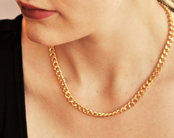Curb Chain Necklace - Aura Collection