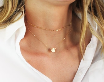 Suspended Petite Initial Necklace
