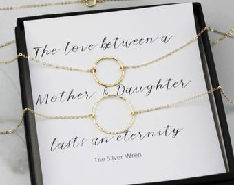 Mother Daughter Eternity Necklaces