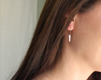 Spike Dangle Hoop Earrings