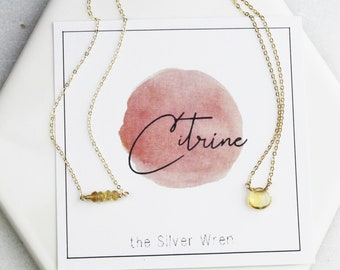 November Birthday - Citrine Necklace
