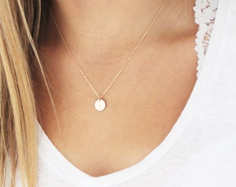 Petite Initial Necklace, Choose up to 4 discs, Silver, Rose or Gold
