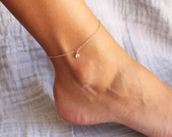 Gold Anklet Bracelet - Choose your chain