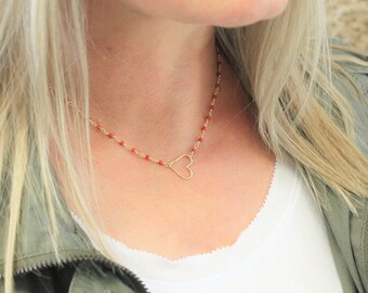 Dainty Necklace in Star, Circle or Heart, choose your chain
