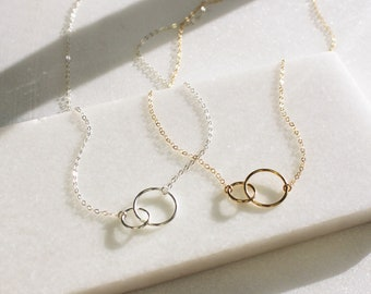 Interlocking Infinity Necklace