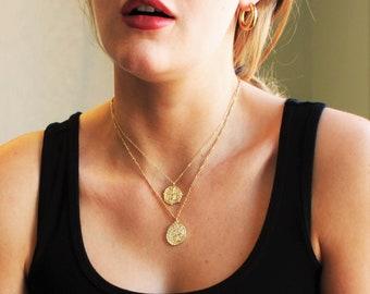 Coin Medallion Pendant Necklace - Aura Collection