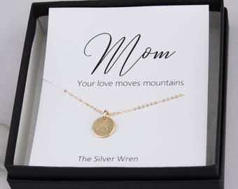 Mom Your Love Moves Mountains Necklace