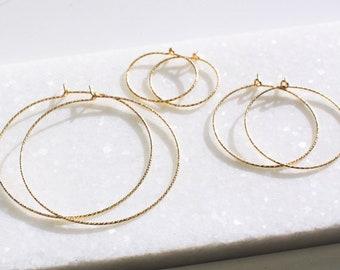 Harper - Simple Hoop Earrings