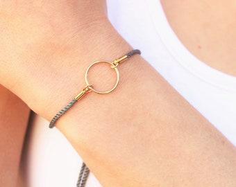 Eternity Bracelet - Adjustable Gray Cord