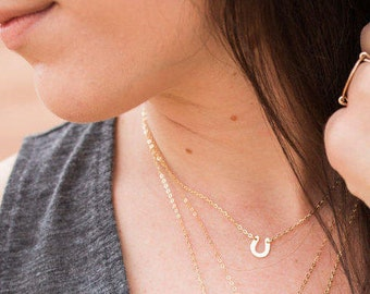 Dainty Choker Necklace, Gift for Women, Tiny Horseshoe Necklace, Layering Necklace, Dainty Necklace, Gift for Her, The Silver Wren