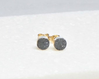 Tiny Druzy Stud Earrings