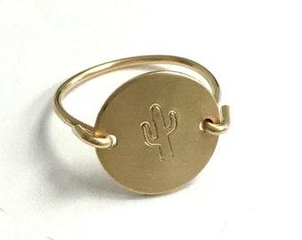Personalized Medium Disc Ring