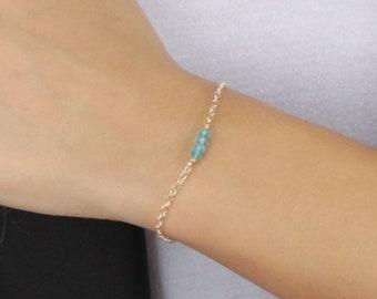 Genuine Birthstone Dainty Bracelet